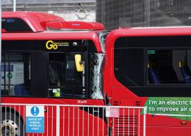 One dead and 2 in hospital after bus crash in London