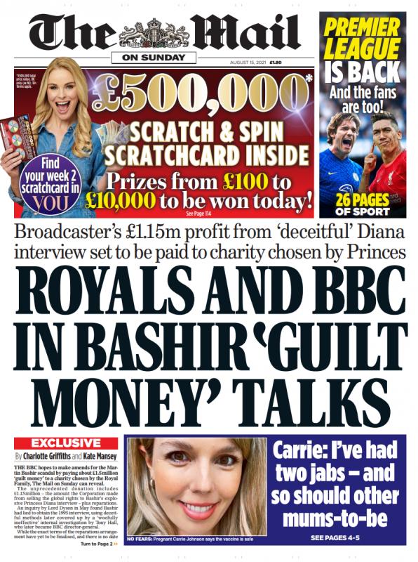 royals and bbc in martin bashir guilt money talks