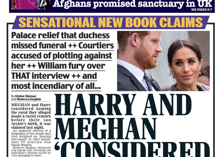 Daily Mail - Harry & Meg considered 'naming racist'