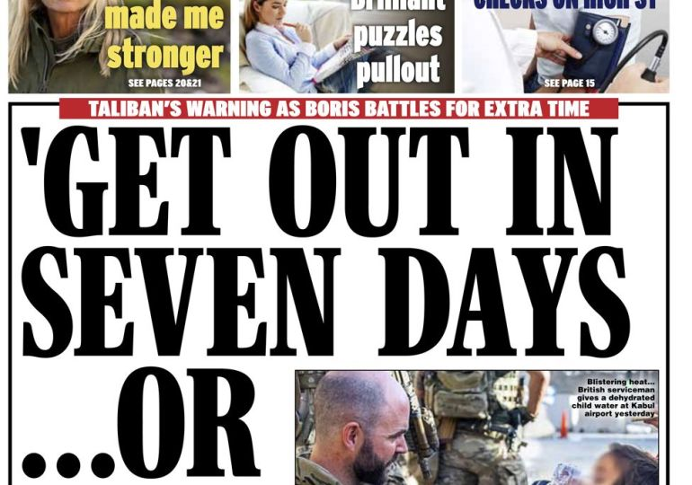Daily Express - 'Get out in 7 days or else'