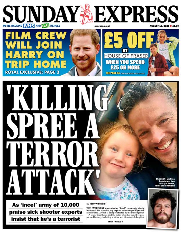 Sunday Express - 'Killing Spree A Terror Attack'