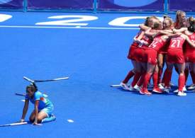 Team GB's women secure bronze in helter-skelter Olympic hockey win over India
