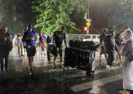 Flooding in New York as Hurricane Henri approaches north-east coast