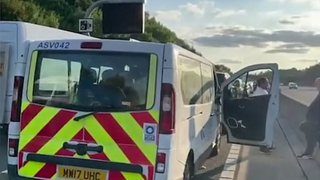 Three dead after collision involving car, lorry and minibus on M25