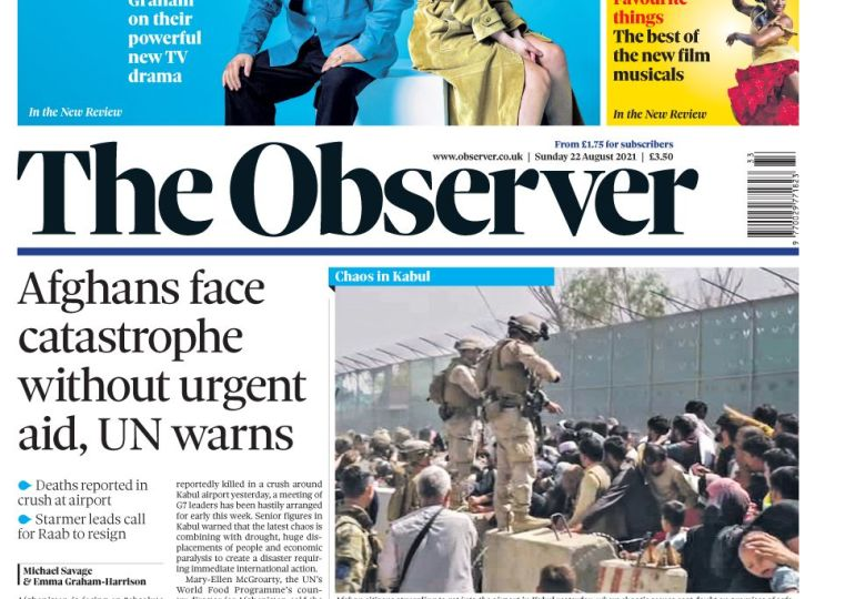 The Observer - Afghans face catastrophe without urgent aid, UN warns