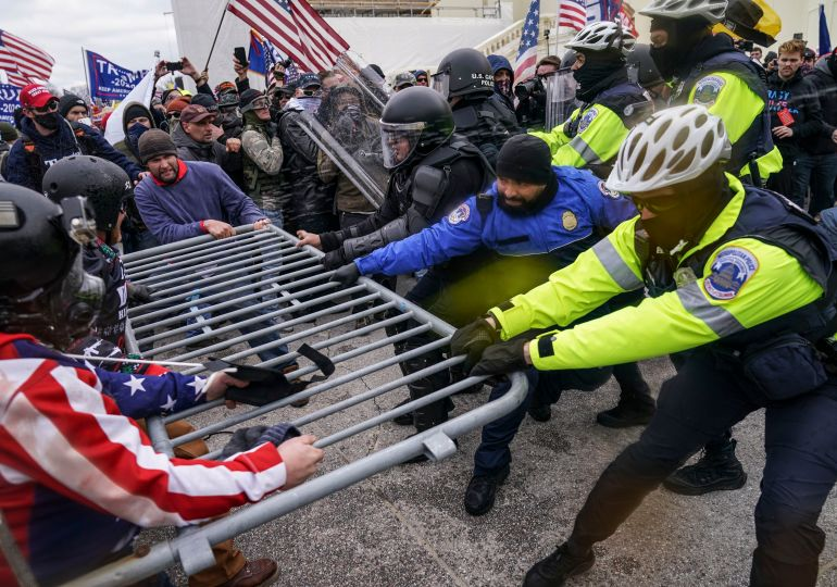 Donald Trump sued over lies and January 6 riot by Capitol police