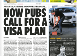 CITY AM News - Now pubs and bars call for visa help as staff shortage bites