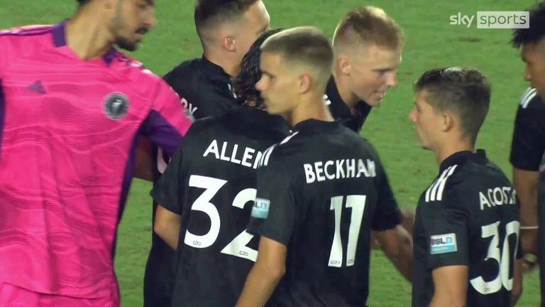 Romeo Beckham makes professional football debut