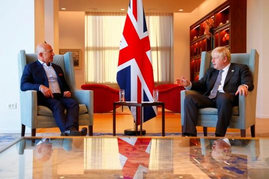 Jeff Bezos sits down with Boris Johnson in New York