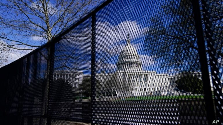 Police plan to reinstall US Capitol fence ahead of rally