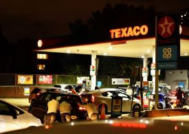 Early-hours chaos as drivers push cars to petrol pumps amid mammoth fuel queues