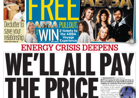 Daily Mirror - 'Energy crisis, we'll all pay the price'