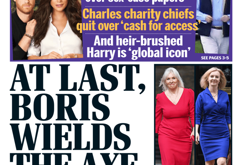Daily Mail - 'At last Boris wields the axe'