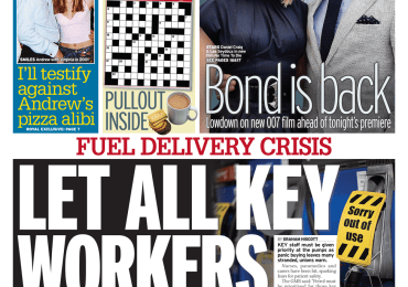 Daily Mirror - 'Let all key workers fill up first'