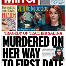 Daily Mirror – 'Murdered on way to first date'