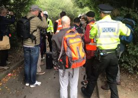 Eco Mob block M25 for fourth time in a week