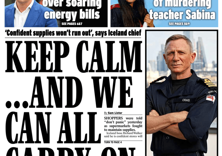 Daily Express - Keep calm and carry on shopping'