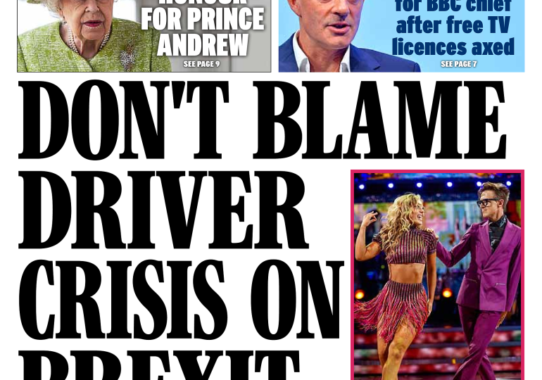 The Daily Express - 'Don't blame Brexit'