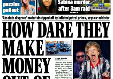 Daily Express - 'How dare they make money out of misery'