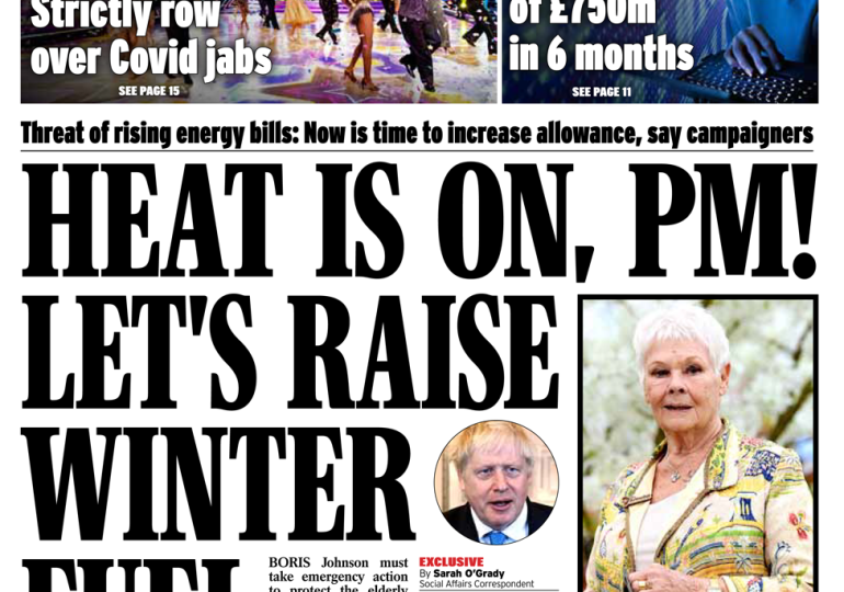 Daily Express - 'Raise winter fuel payments'