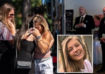 Gabby Petito's heartbroken dad tells mourners to 'be inspired' by her at memorial service