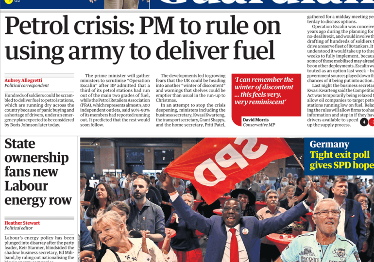 The Guardian - 'Petrol crisis: PM to rule on using Army'