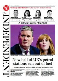The Independent - 'Half UK stations out of petrol'