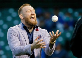 Watch UFC ace Conor McGregor throw 'WORST first pitch in history' at Chicago Cubs game to leave commentators in stitches
