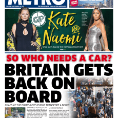 The Metro – 'Britain gets back on board'