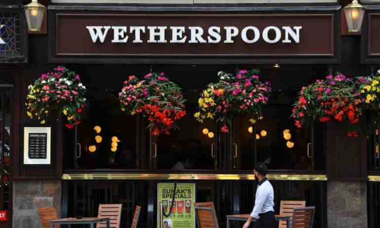 Wetherspoons to slash food and drink prices at ALL pubs today in war against tax