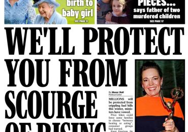 Daily Express - 'We'll protect you from rising bills'