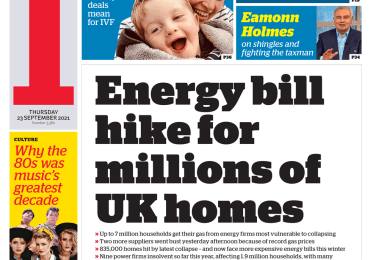 The i - 'Energy bill hike for millions'