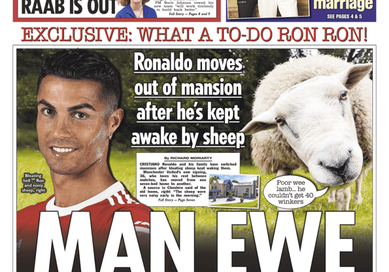 The Sun - 'Ronaldo moves out of Manchester mansion'