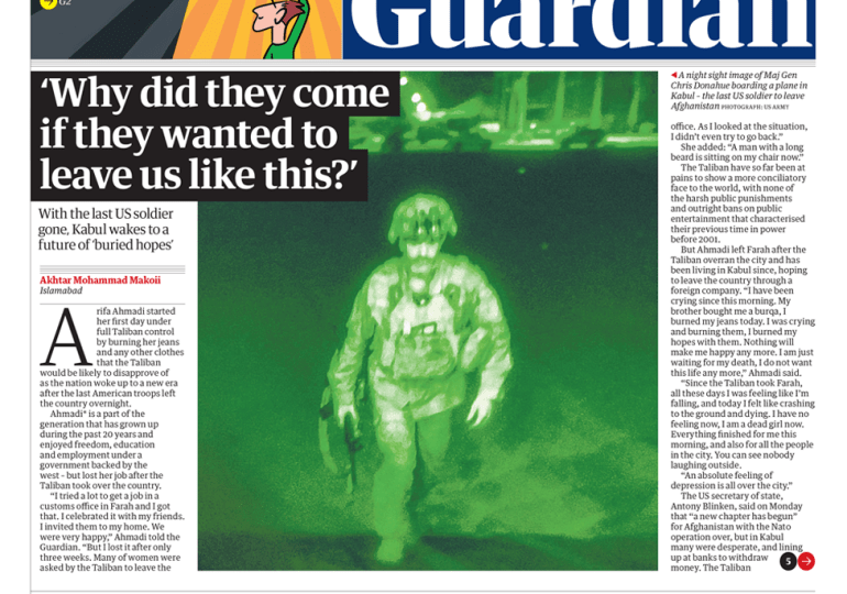 The Guardian - 'Why did they come if they wanted to leave us like this'