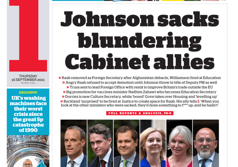 The i - 'PM sacks blundering cabinet allies'