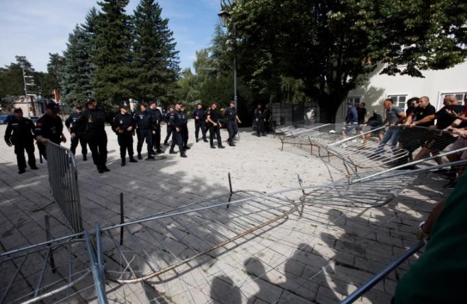 Montenegro protesters, police clash over church head inauguration