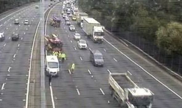 M25 traffic chaos: Huge delays as two lanes closed after serious crash - updates