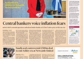 Financial Times - Friday 8th October - Bankers go bonkers on inflation