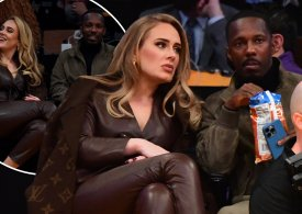 Adele is picture of happiness as she and new boyfriend Rich Paul sit courtside at star-studded Lakers basketball game