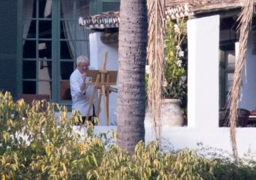 Boris Johnson relaxes and paints picture in £25k-a-week villa as crisis grips UK