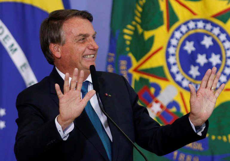 Brazil's Bolsonaro says he is 'bored' with COVID deaths questions