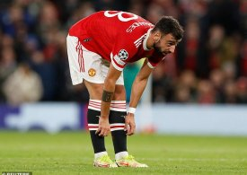 Man Utd dealt shock injury blow with Bruno Fernandes a DOUBT for huge Liverpool after being spotted limping at training