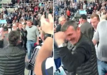 Watch heartwarming moment hero doctor is given standing ovation for saving Newcastle fan's life after Spurs game halted