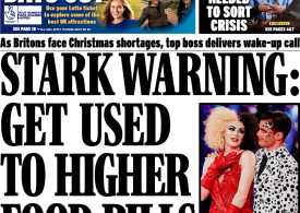 Daily Express - 'Get use to higher food bills'