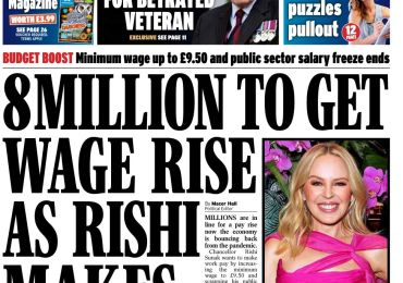 Daily Express - '8M to get pay rise'