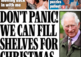 Daily Express - 'Don't panic, we can fill shelves for Christmas'