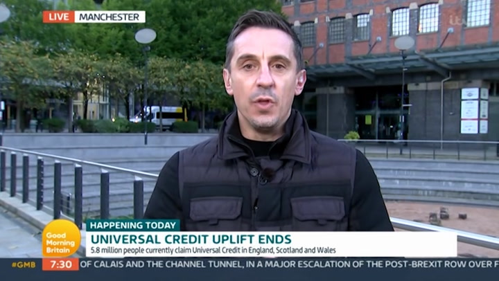 GMB fans rejoice as Gary Neville 'destroys' Edwina Currie in Universal Credit row