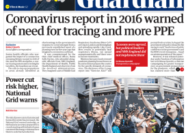 The Guardian - 'Coronavirus report warned need for PPE'