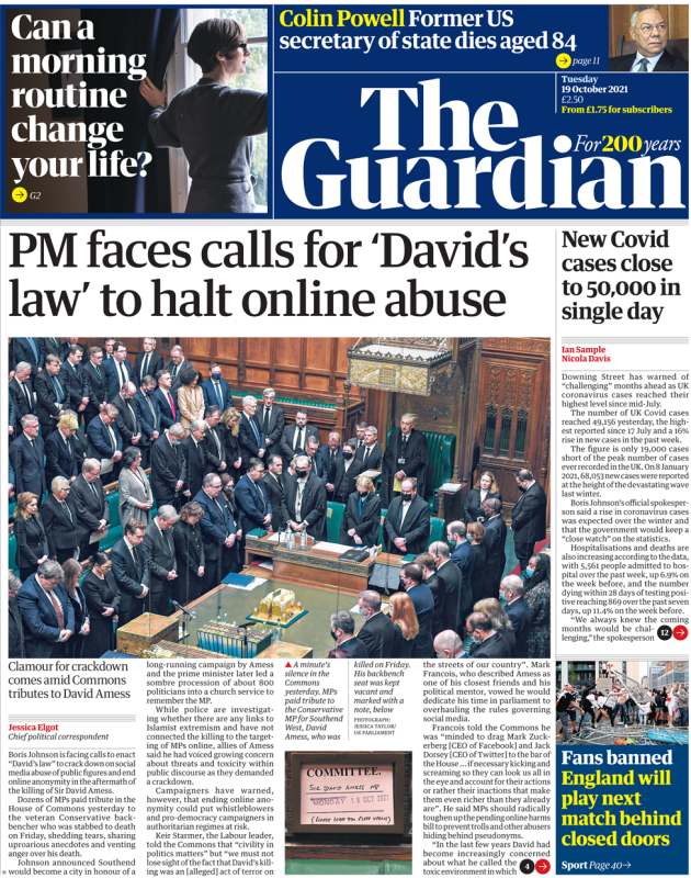 The Guardian - 'PM faces calls for David's law'