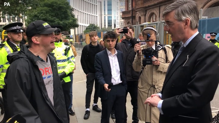 Five arrested after Iain Duncan Smith assaulted with traffic cone outside Tory conference